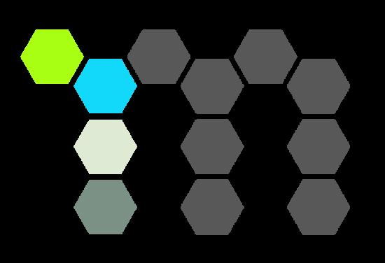 Mechnano logo gray hexes
